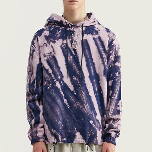 Men's Wear Spring Street tie dye Loose Cotton Hooded sweatshirt