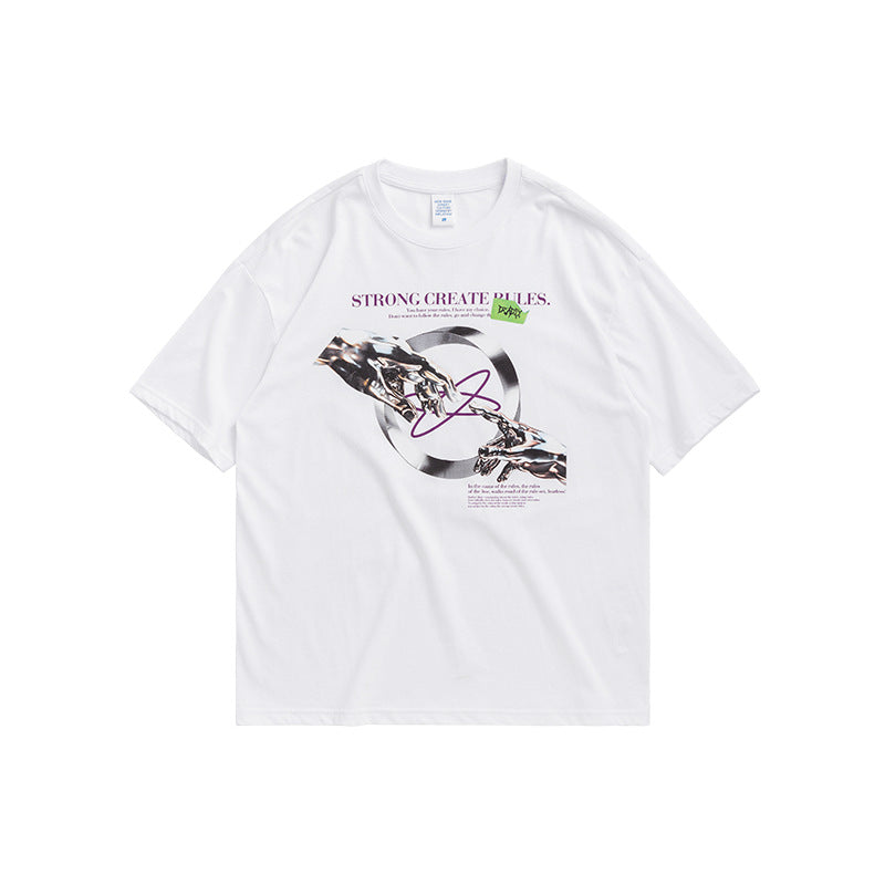 men's and women's wear abstract printing casual T shirt