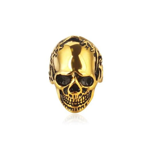 men's accessories punk style stainless steel skull ring