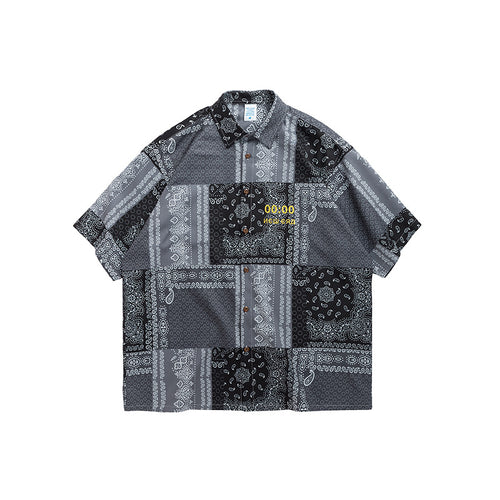 men's and women's wear digital printing loose men's shirt