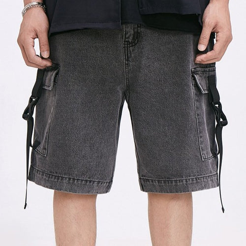 Men's Wear Spring/Summer New Multi-Pocket Loose  Denim Shorts