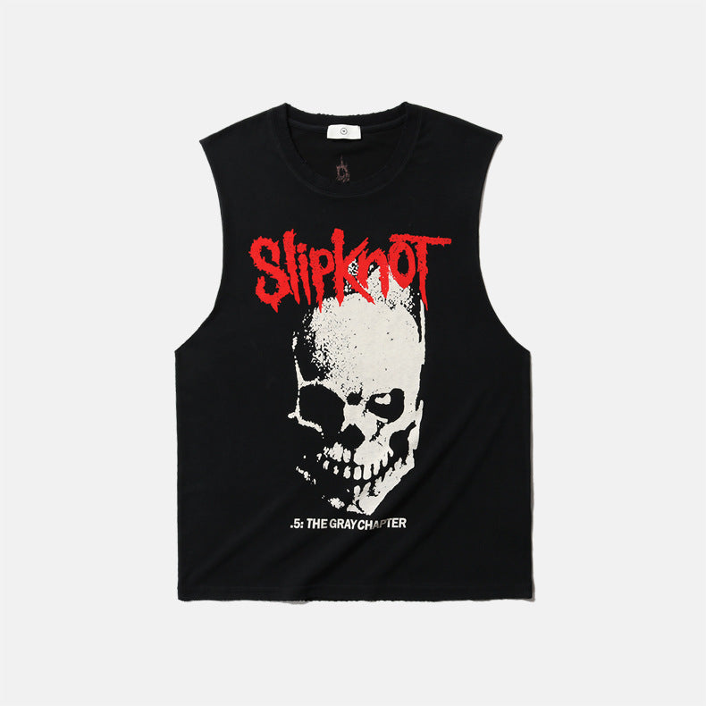 men's wear heavy metal slipknot rock street punk vest tank top