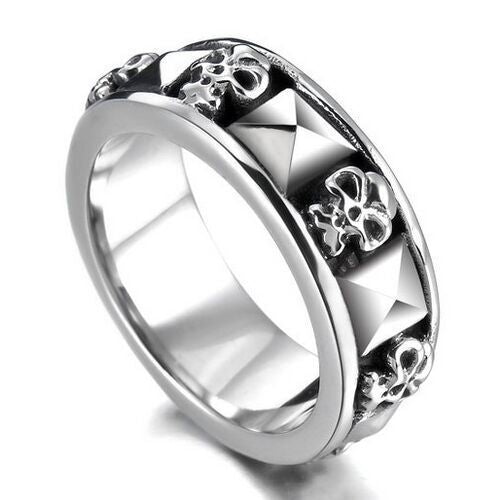 Men's accessories titanium steel ghost ring stainless steel punk jewelry