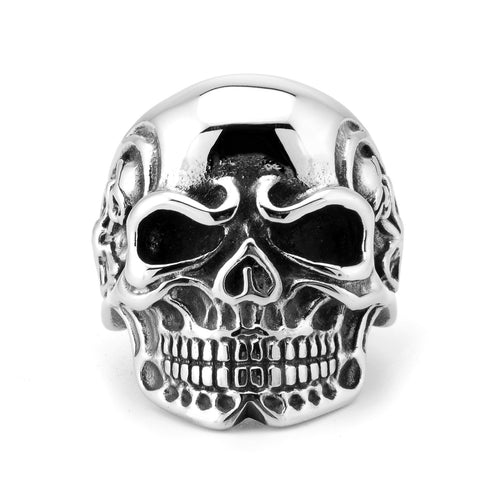 men's accessories statement stainless steel jewelry super-large skull titanium ring