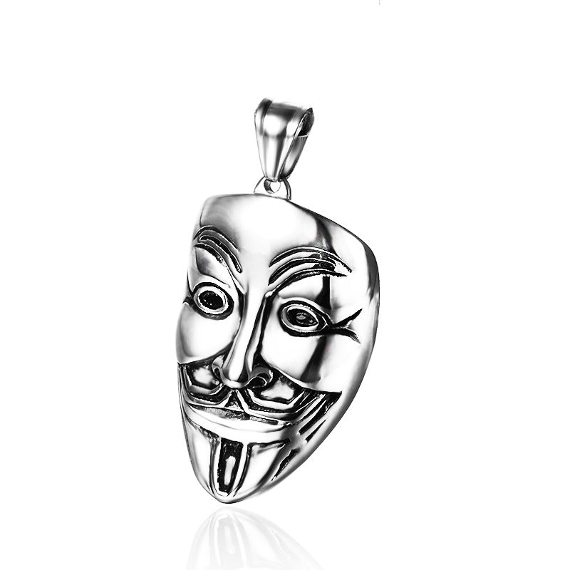 men's accessories Stainless steel face mask Necklace pendant
