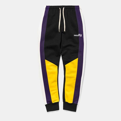 men's wear new contrast splicing sports pants casual pants