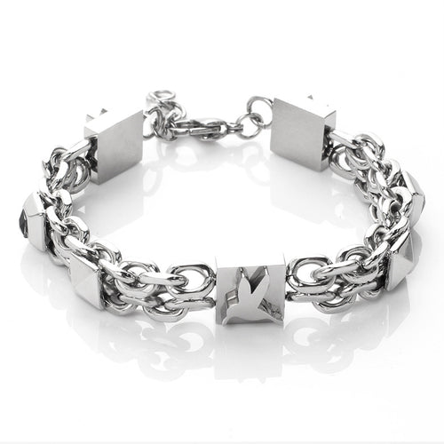 men's accessories titanium steel cross chain bracelet