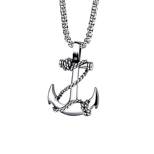 men's and women's accessories stainless steel navy anchor necklace