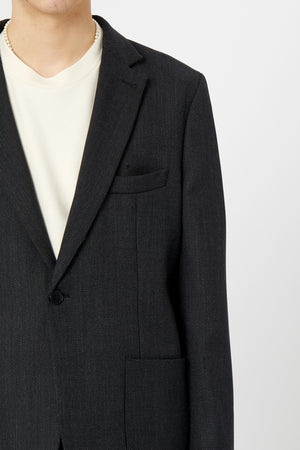ONE BLAZER JACKET - Wool Textured Twill