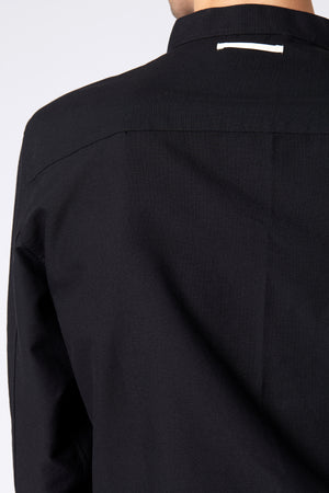 MANDARIN SHIRT - Black Oxford