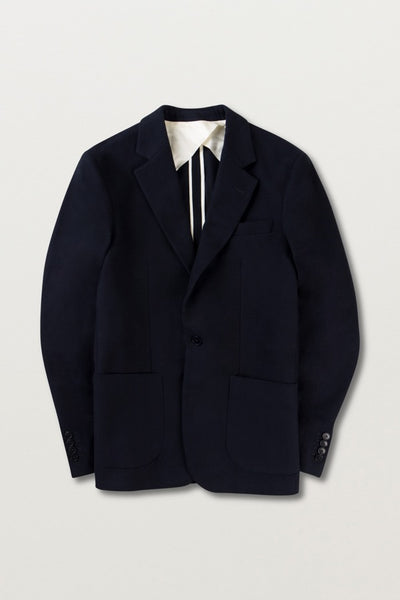ONE BUTTON TWILL BLAZER