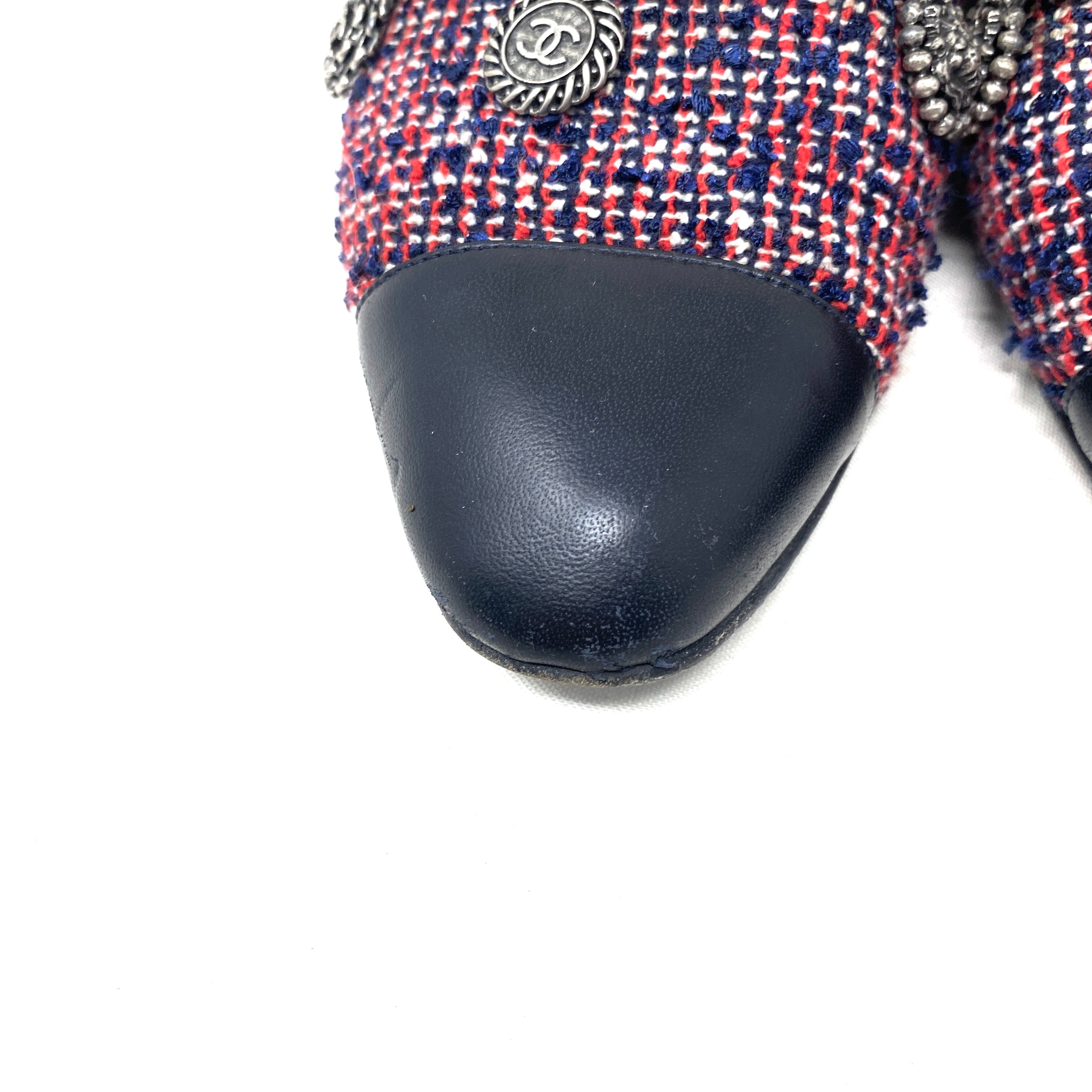 Loafers Chanel tweed Coin Charm T37