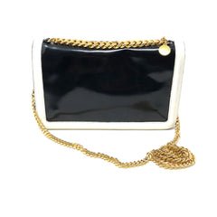 Clutch Stella McCartney negro con blanco