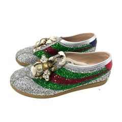 Tenis Gucci Falacer Glitter Bowler T.37.5