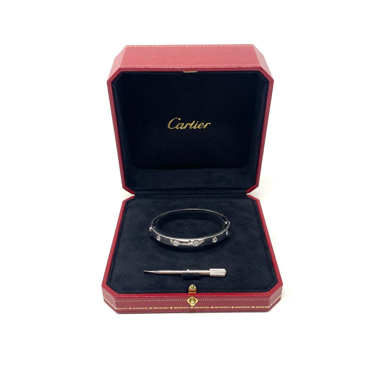 Pulsera Cartier Love 10 diamantes