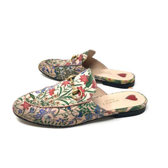 Slippers Gucci Princetown Floral Pink T.36.5