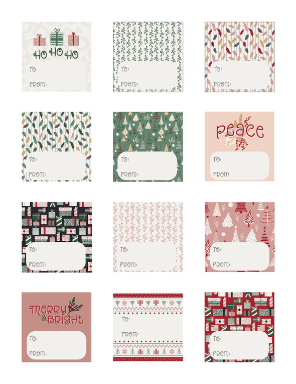 Cozy Cabin Gift Tags 2020