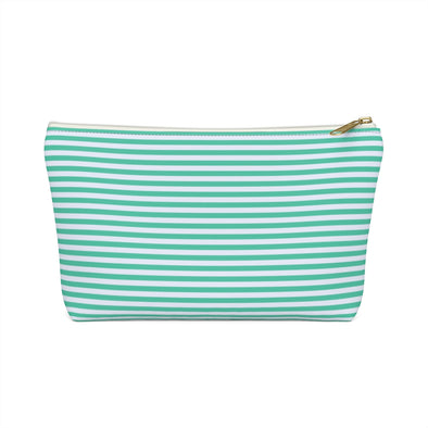 Bali Pouch w T-bottom - Biscay Green Horizontal Stripe