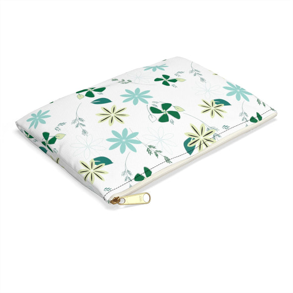 Hudson Zipper Pouch - African Floral White
