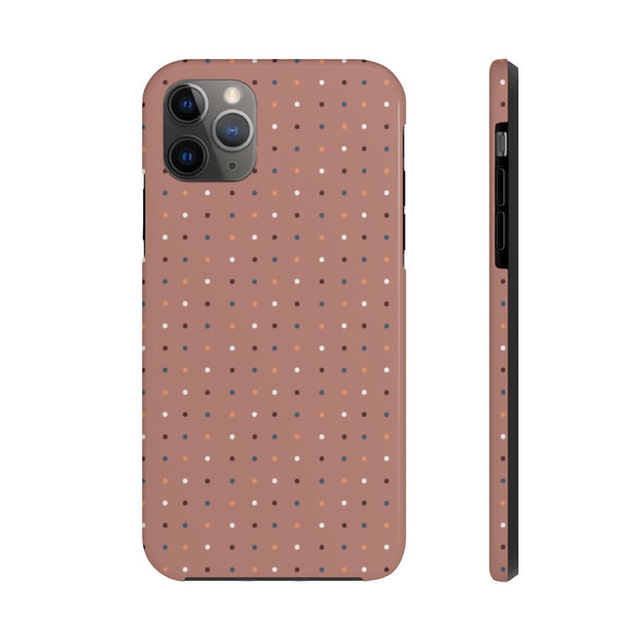 Phone Case - Dancing Dots Old Rose