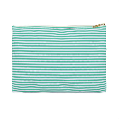 Hudson Zipper Pouch - Horizontal Stripes Biscay Green