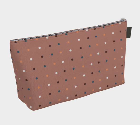 Bora Bora Clutch Wristlet - Dancing Dots Old Rose