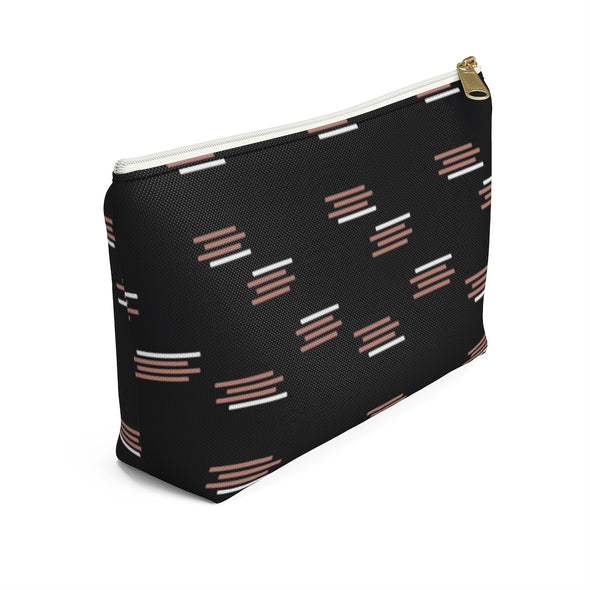 Bali Pouch w T-bottom - Paintbrush Stripes Black Beauty
