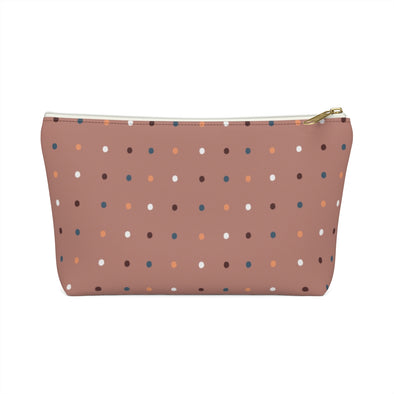 Bali Pouch w T-bottom - Dancing Dots Old Rose