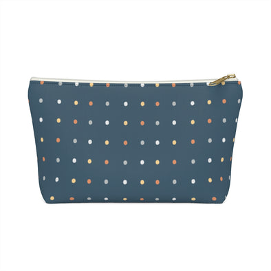 Bali Pouch w T-bottom - Dancing Dots Real Teal