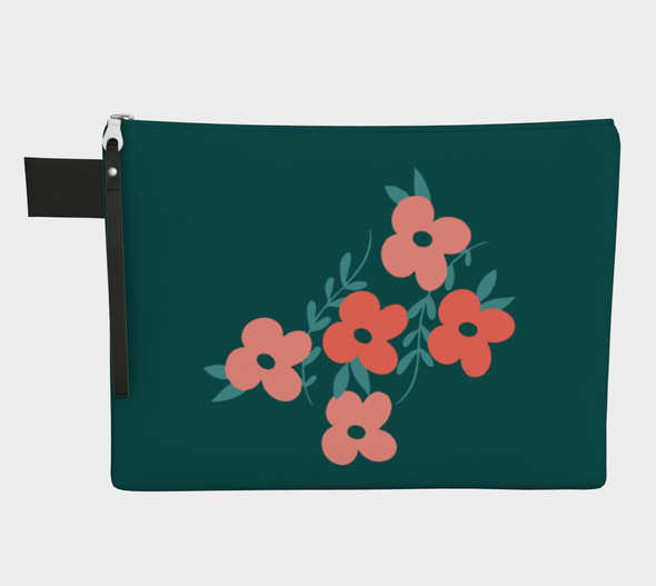 Key West Carry All - Coral Floral Teal