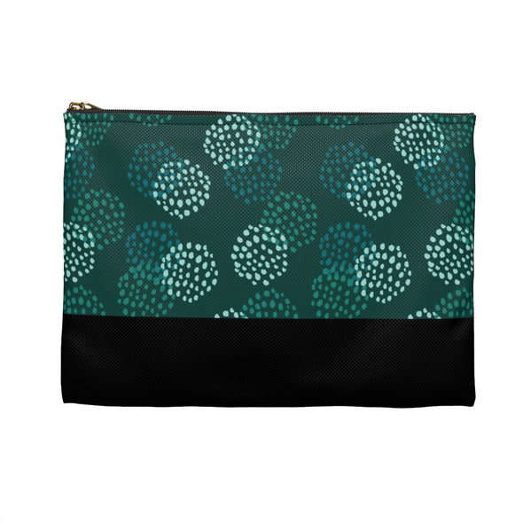 Hudson Zipper Pouch - Blooms Green