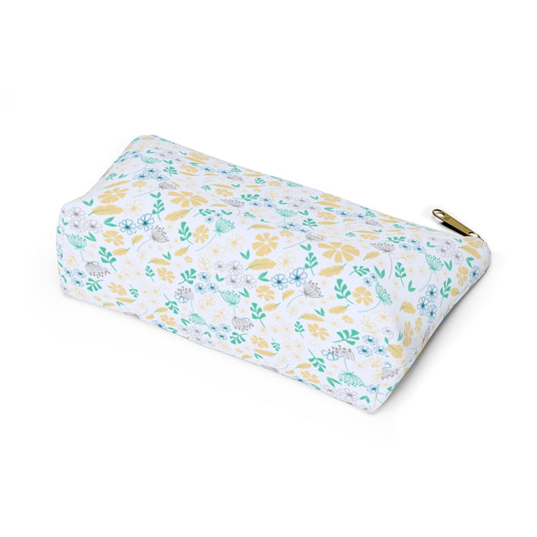 Bali Pouch w T-bottom - Floral Feathers Sunlight/Biscay Green