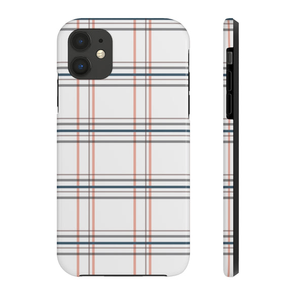 Phone Case - Window Seat Plaid Old Rose