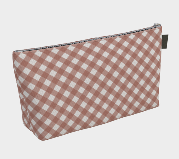 Bora Bora Clutch Wristlet - Buffalo Stripe Old Rose