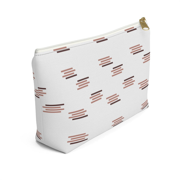 Bali Pouch w T-bottom - Paintbrush Stripes Old Rose