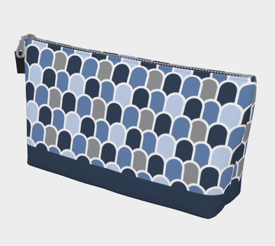 Beach Waves - Cerulean/Deep Sea | Bora Bora Clutch