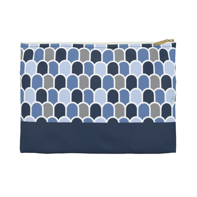 Beach Waves Cerulean/Deep Sea | Hudson Pouch