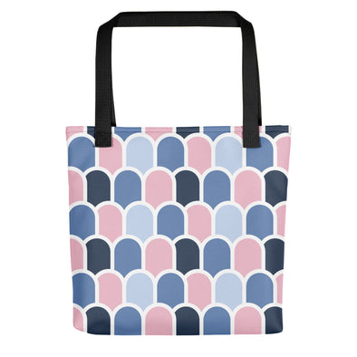 Beach Waves - Pampas Pink/Cerulean | Camden Tote bag