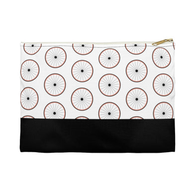 Hudson Zipper Pouch - Wheels Pink