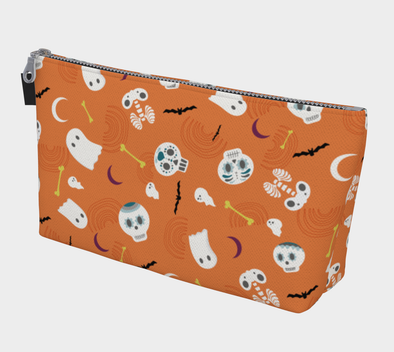 Bora Bora Clutch Wristlet - Party of the Dead Orange Ochre