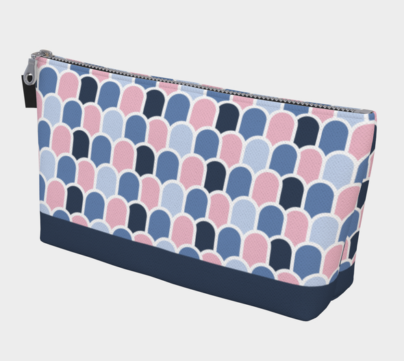 Beach Waves - Pampas Pink/Deep Sea | Bora Bora Clutch