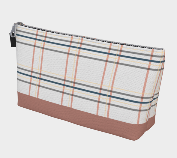 Bora Bora Clutch Wristlet - Window Seat Plaid Old Rose