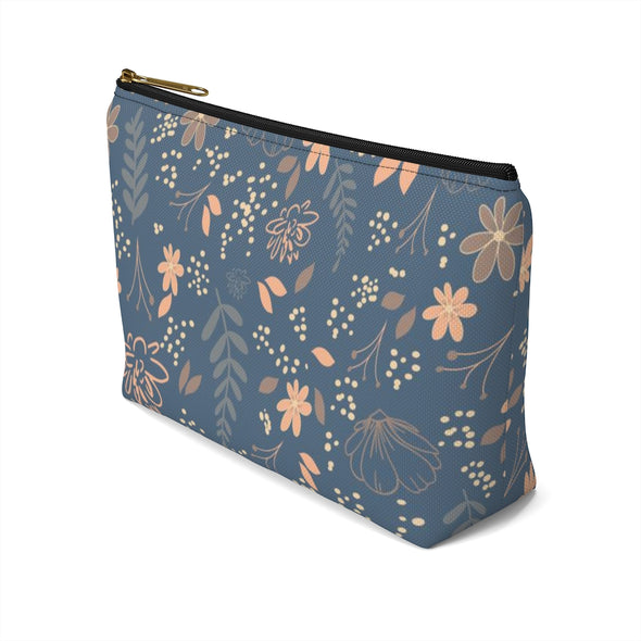 CASA Floral Accessory Pouch w T-bottom