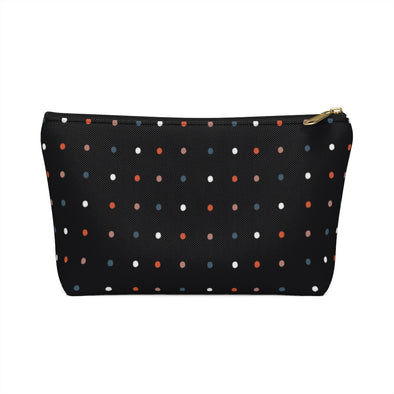 Bali Pouch w T-bottom - Dancing Dots Black Beauty