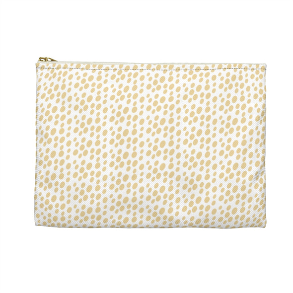 Hudson Zipper Pouch - Dots Sunlight Yellow