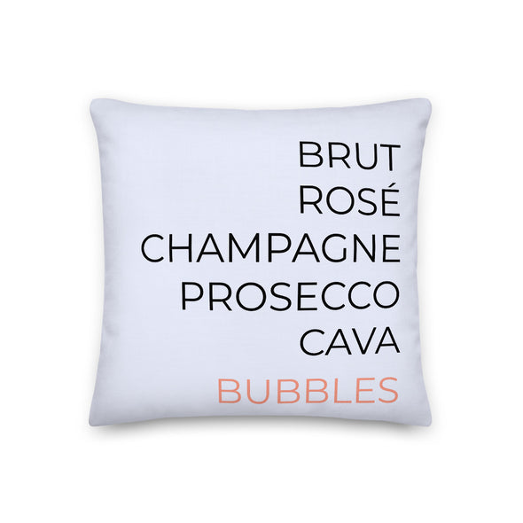 Bubbles Coral Pink - Throw Pillow