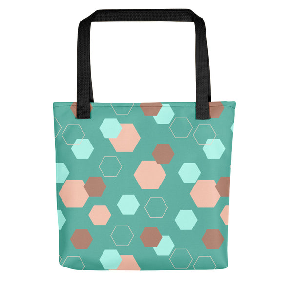 Camden Tote bag - Hexagon Teal