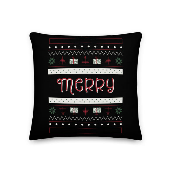 Ugly Sweater Black - Throw Pillow