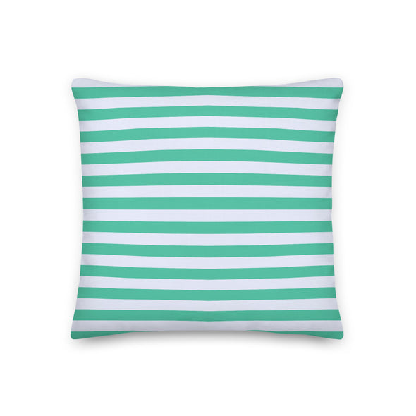 "1/2"" Stripes Biscay Green - Throw Pillow"