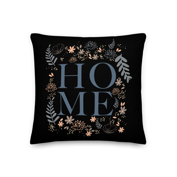 Home on Black - Throw Pillow